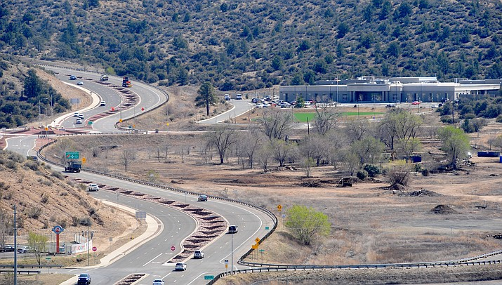 The possible site of a new Yavapai County Jail Facility located on Prescott Lakes Parkway. (Les Stukenberg/The Daily Courier)