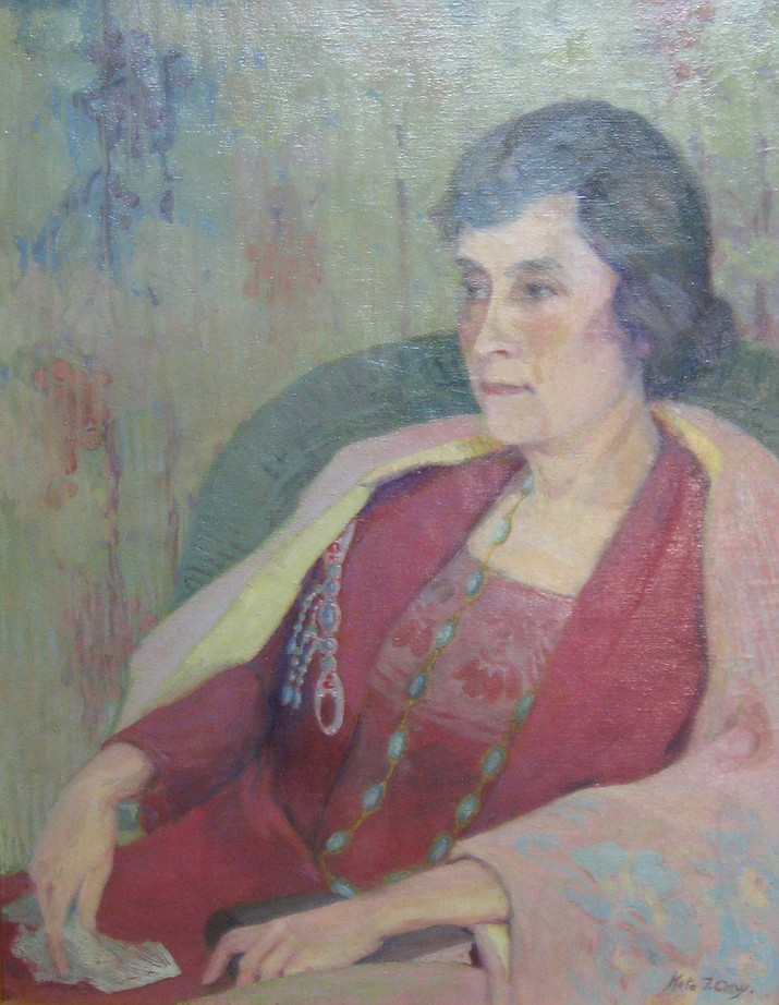 A portrait of donor Karen McGuinn's great-aunt, Mata Dexter, is one of two previously unknown paintings by Kate T. Cory.