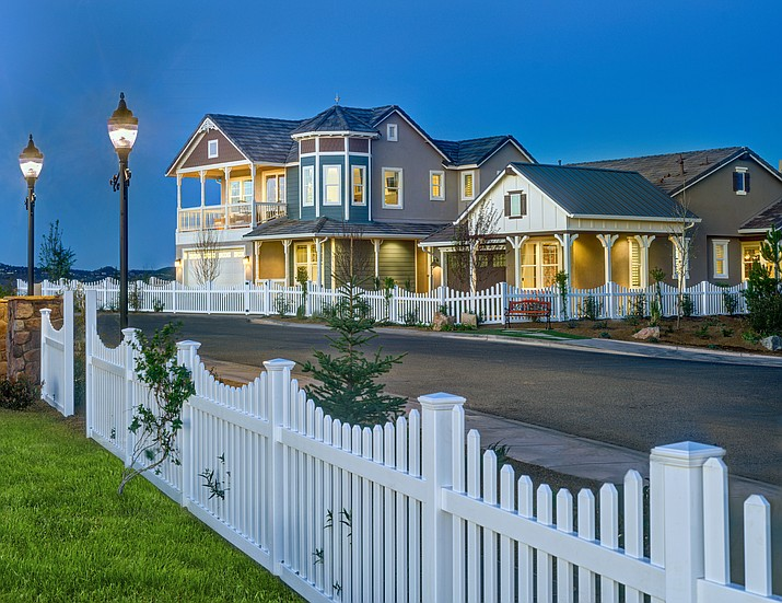 The model homes built by Dorn Homes that received top awards at the 2016 International Builders' Show. The smaller home to the right (called the Charlotte) received the gold award and the larger home (called the Victoria) received the silver award.