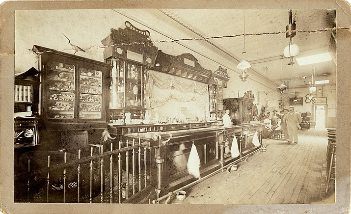 "Interior of the Cabinet Saloon, one of the many notorious establishments along Prescott's famous ""Whiskey Row,"" that will be discussed during the Brad Courtney presentation at Sharlot Hall Museum on Saturday, March 19 at 2 p.m."