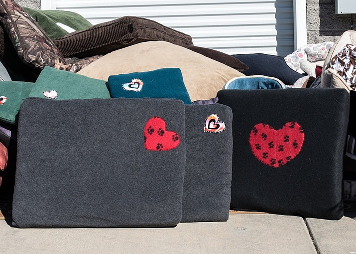 More than 80 pet beds were distributed through United Animal Friends' Community Pet Food Bank.