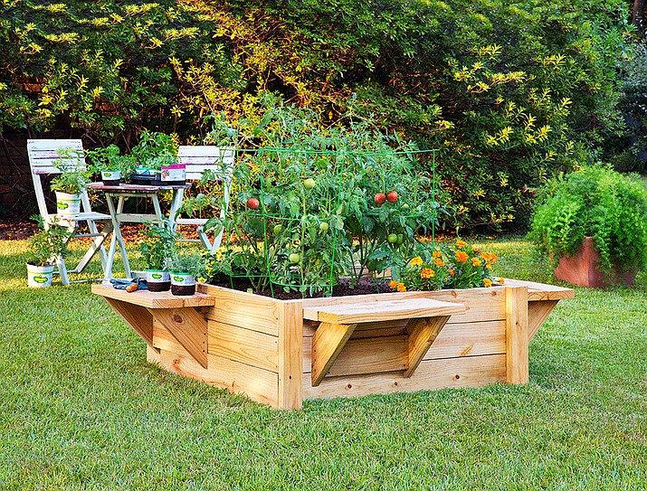 Raised beds make for more comfy gardening and allow gardeners to control the soil mix.
