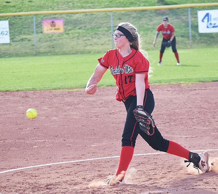 Bradshaw S Mckaylee Dodge Throws A Pitch Monday Afternoon During Her Complete Performance At Mingus Union