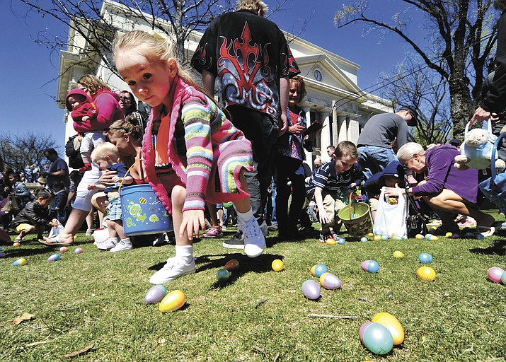 Organized mayhem ruled the grass during the Great Prescott Easter Egg Hunt Saturday morning on the Yavapai County Courthouse Plaza.
