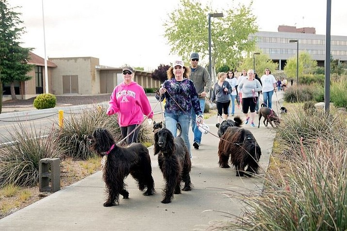 Participants enjoy the Walk for Animals.