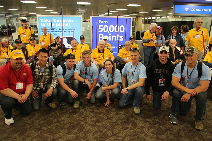 Seven ROTC cadets from Embry-Riddle had the privilege to accompany 23 WWII veterans to Washington D.C. on Arizona Honor Flight's most recent spring trip.