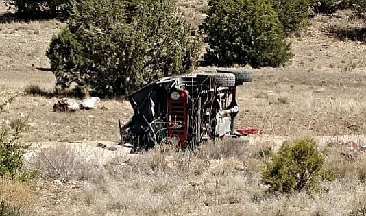 One man was killed and two boys injured in this Jeep rollover that happened Sunday about 13 miles east of Chino Valley on Perkinsville Road.