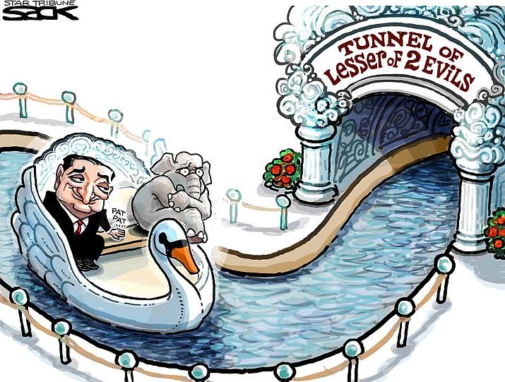 Editorial cartoon for April 10, 2016