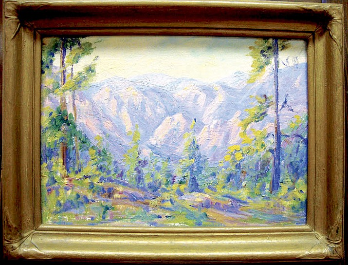 """""""Cave Creek,"""" undated. By her 80th birthday Effie was known as """"The Dean of Arizona Women Artists."""""""