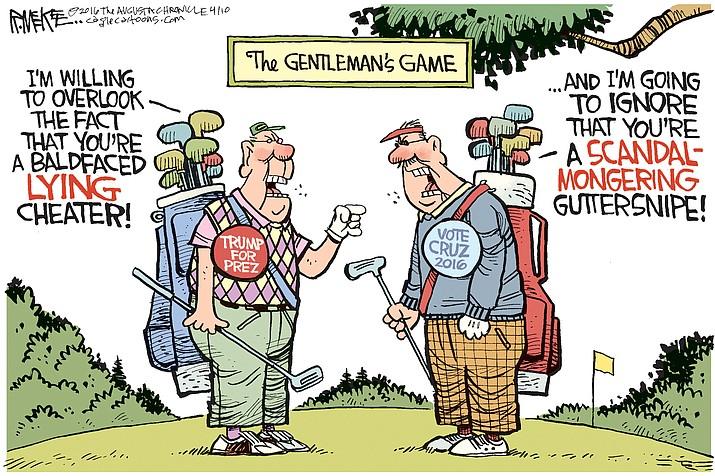 Editorial cartoon for April 11, 2016