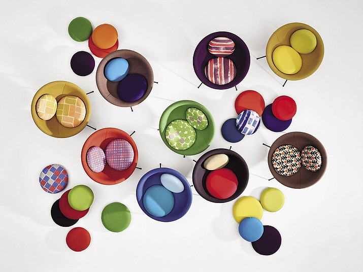 """This undated photo provided by The Monacelli Press shows a group of the Lina Bo Bardi, Bowl Chair, photographed from above which was originally designed in 1951. The chair is featured in the book """"Brazil Modern: The Rediscovery of Twentieth-Century Brazilian Furniture."""""""