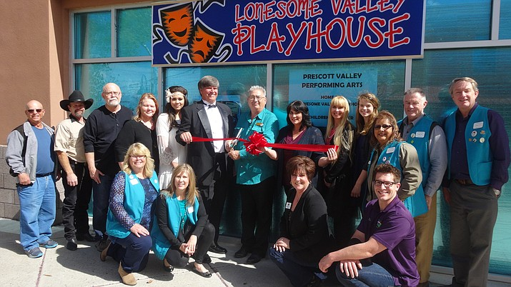 The Prescott Valley Chamber of Commerce was happy to celebrate Lonesome Valley Playhouse's new location with a ribbon cutting on Friday, April 8.