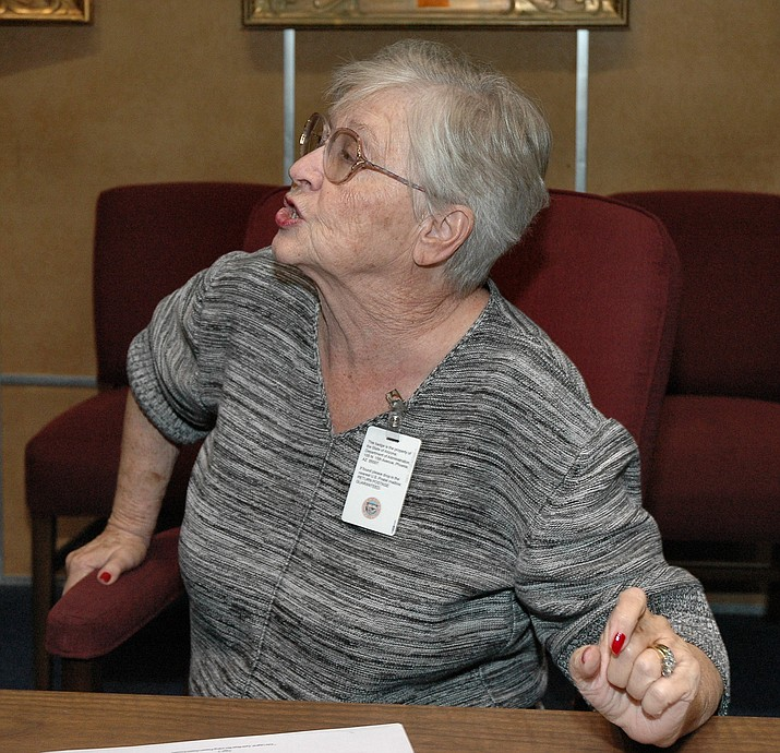 Sen. Judy Burges at the Capitol in Phoenix.