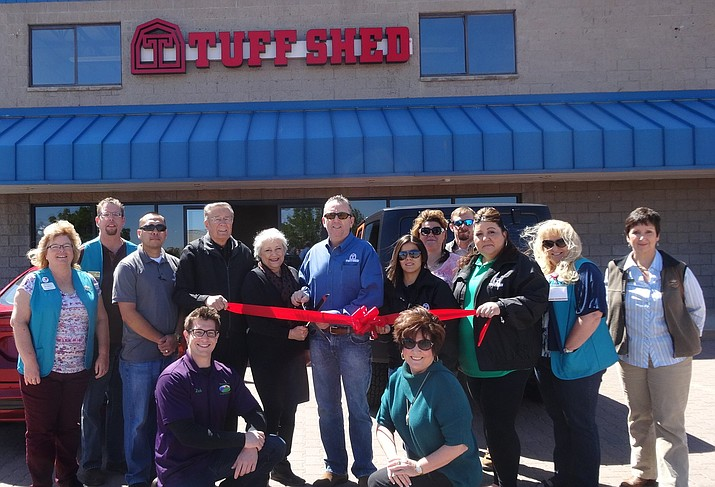 The Prescott Valley Chamber of Commerce was happy welcome new member Tuff Shed with a ribbon cutting on Saturday, April 16.