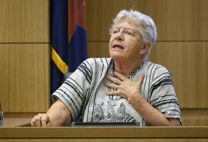 Diane Post, who worked the polls on March 22, tells a judge Monday about the problems that she encountered that day.