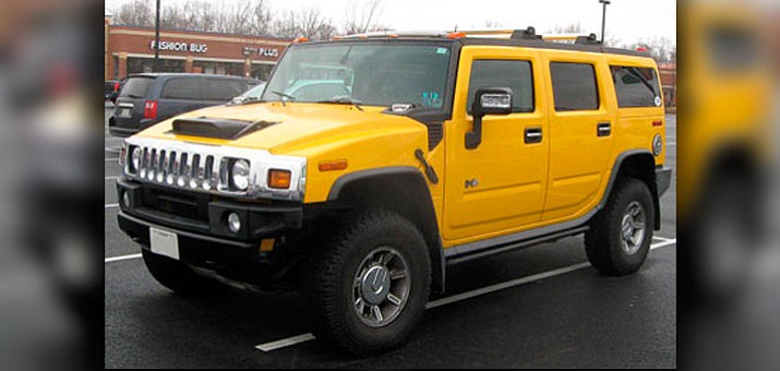 "The 8,400-pound Hummer H2 is labeled as a ""Killer on the Road"" by groups like Code Pink, Women for Peace."