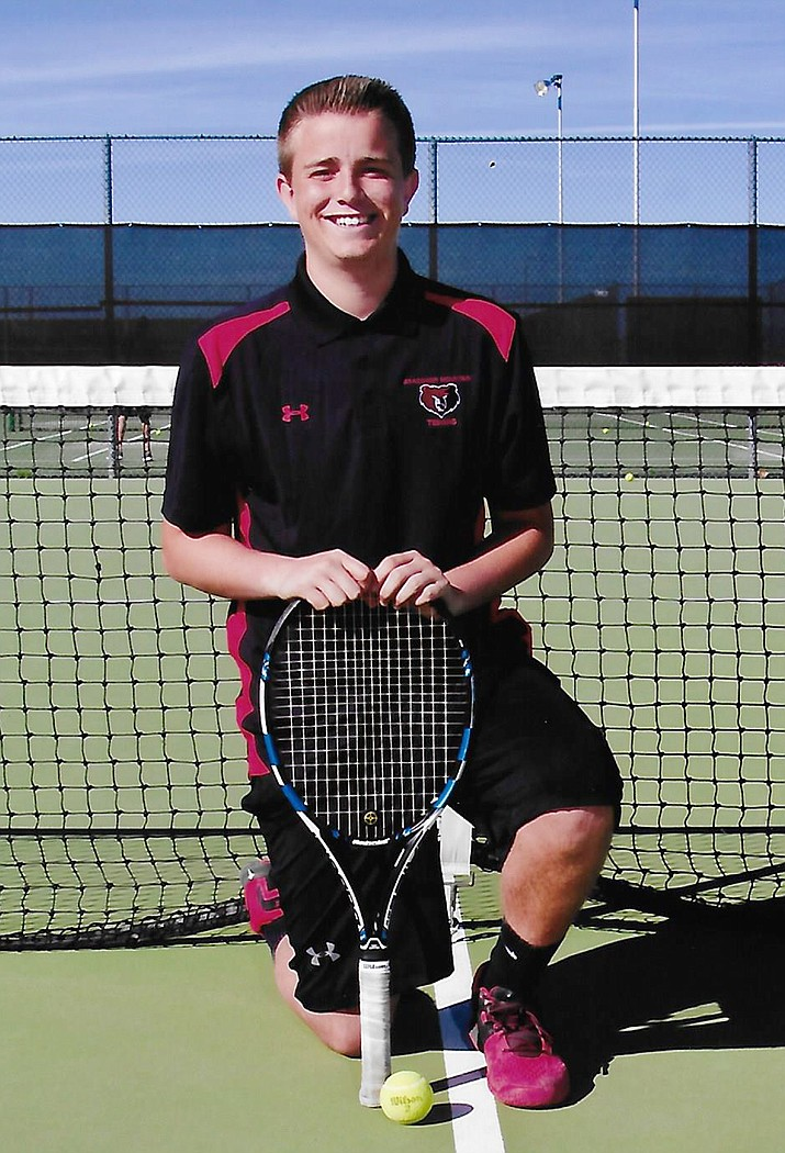 Dawson Turner is a sophomore at Bradshaw Mountain High School who, in addition to playing tennis for the Bears, also is a good student.