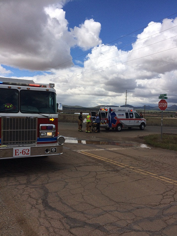 A 16-year-old boy was flown to Phoenix hospital by Guardian Air after a two-car crash at the intersection of Big Chino Road and Naples Drive in Paulden Saturday morning, May 7.