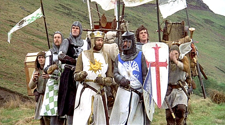"This is the first time ""Monty Python and the Holy Grail"" has been screened as a singalong event to celebrate the film's 40th anniversary, giving audiences the opportunity to sing along with the Knights of the Round Table."