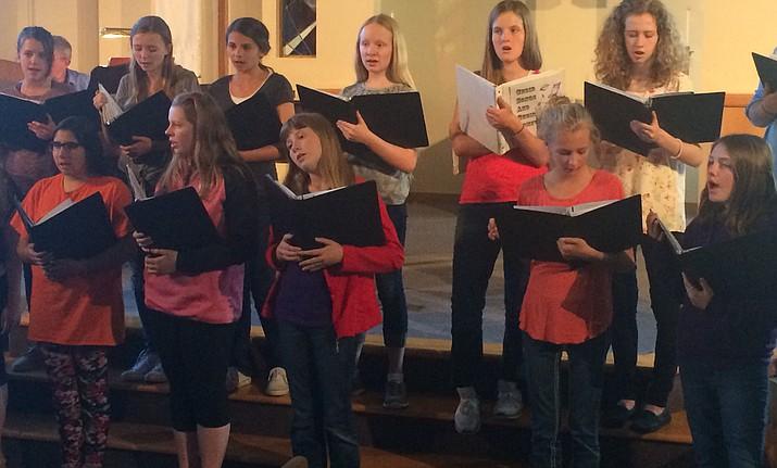 The Yavapai Youth Choir rehearses.
