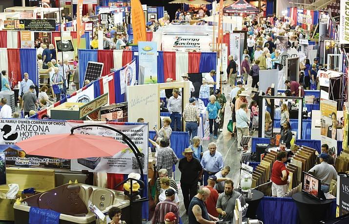 It's a busy day at the Yavapai County Contractors Association Home and Garden Show at the Prescott Valley Event Center. The 2017 show runs May 19-21.