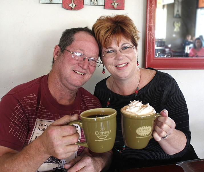 Dallas and Colleen Walker at Cuppers Bistro for breakfast on Saturday, May 7. It was the last part of a day of  pampering.