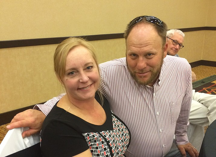 CCJ volunteer/client Heidi Hart-Laird and her husband Kevin at the CCJ luncheon.