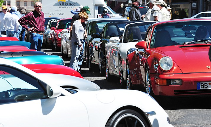 Porsches will invade courthouse plaza Saturday, May 21.