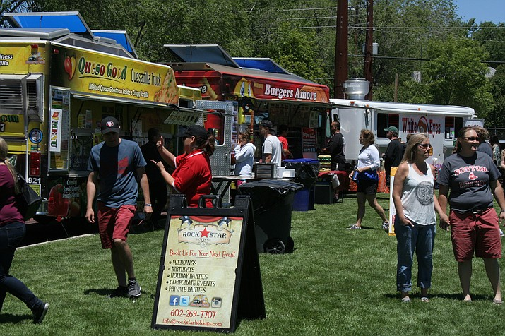 Urban Eats (formerly called the Prescott Food Truck Festival) boasts 20 vendors, a four-story inflatable slide, and Funk Frequency belting out the tunes. The festival continues today at Mile High Middle School, downtown.