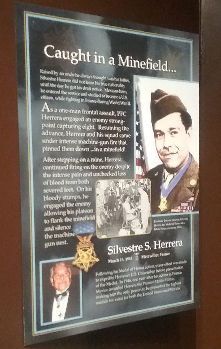 The Sharlot Hall Museum exhibit on the Medal of Honor shares stories of the recipients.