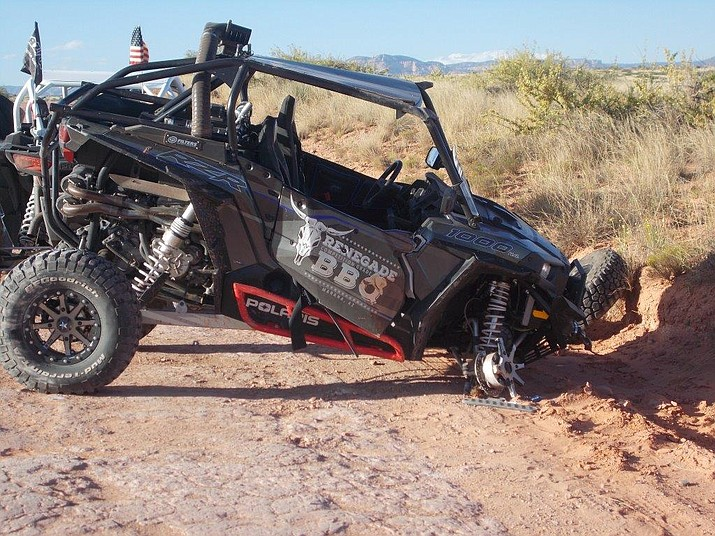 This ATV rolled Saturday, May 21, critically injuring the driver, who was ejected from the vehicle.
