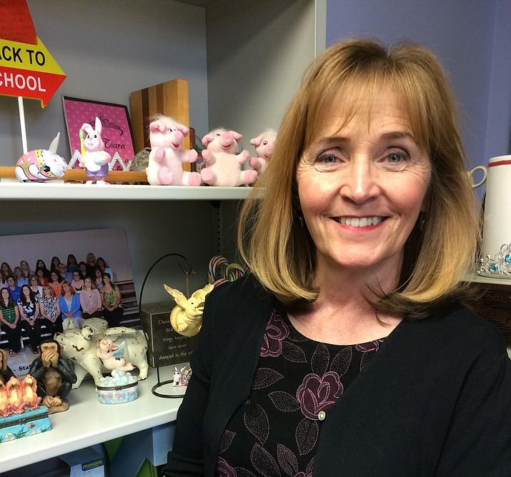 Del Rio Elementary Principal Susan Clark in her office