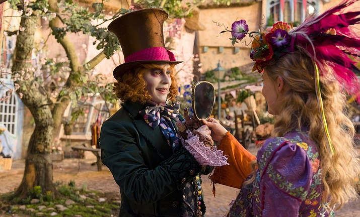 "Johnny Depp, left, and Mia Wasikowska appear in a scene from ""Alice Through The Looking Glass,"" one of the new movies showing this weekend at the Harkins Theatres in Prescott Valley."