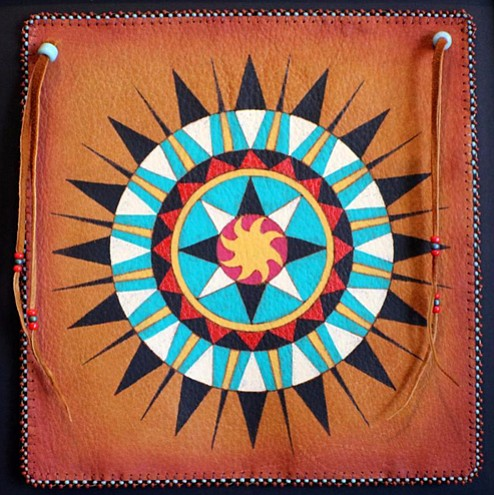 Bead work by Karen Clarkson, an Oklahoma Choctaw artist