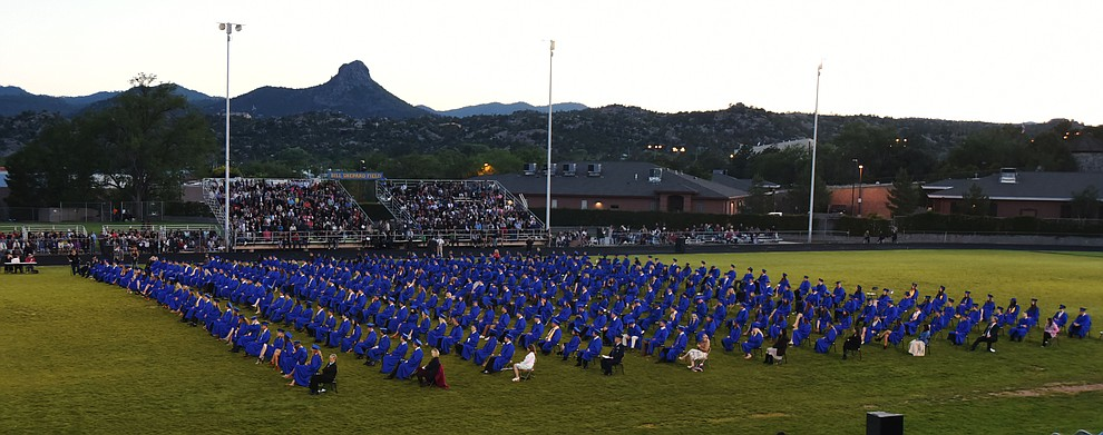The Class of 2016 as Prescott High School Commencement Ceremony on May 27, 2016.  (Les Stukenberg/The Daily Courier)