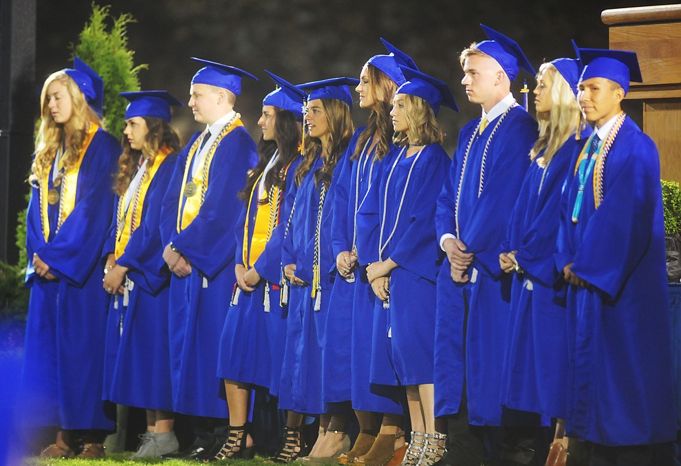 Student Body and Senior Class Officers as Prescott High School holds their Commencement Ceremony for the Class of 2016 on May 27, 2016.  (Les Stukenberg/The Daily Courier)