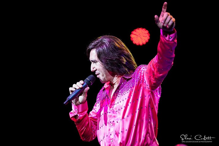 "Greg Ansel ""channels"" Neil Diamond in his tribute show, ""Diamond in the Rough."""