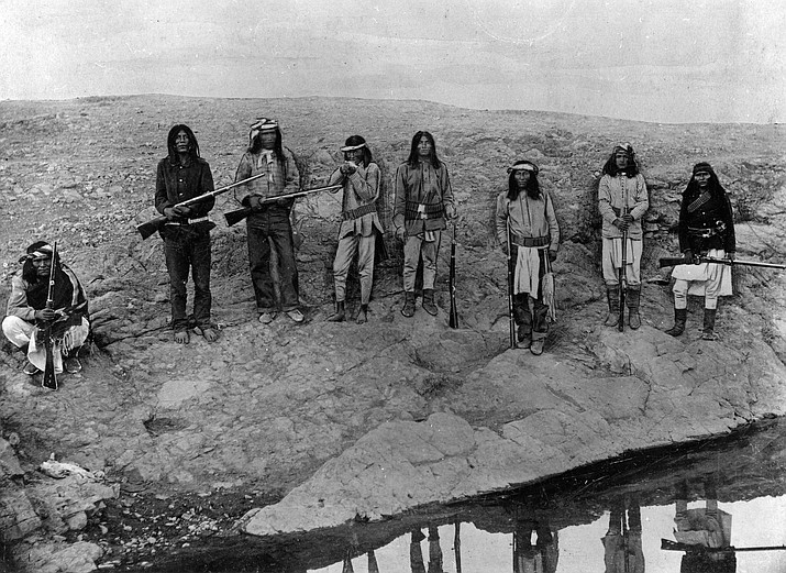Apache scouts in Southern Arizona in the 1880s. call number IN-A-138P