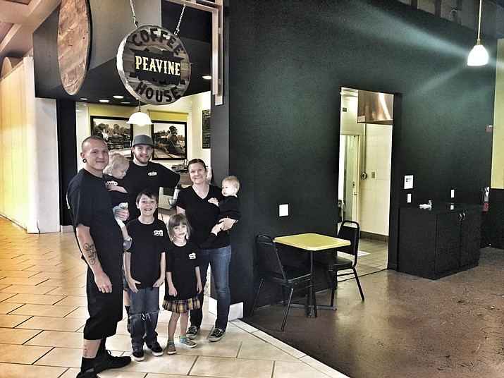 The Stringer family owns and operates the Peavine Coffee House, which just opened in Prescott Gateway Mall's food court.