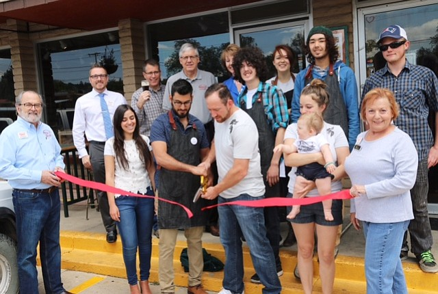 Solanos y Hermanos Coffee celebrated their grand opening celebration with a ribbon-cutting May 26.