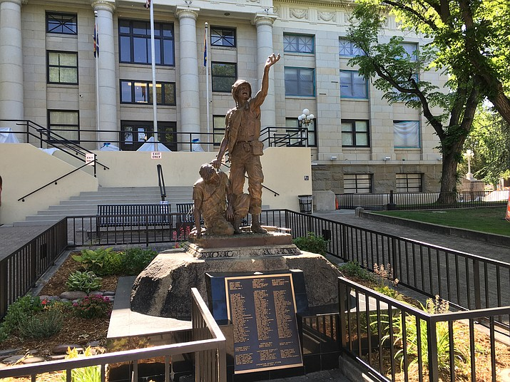 The All Veterans War Memorial at the Courthouse Plaza in Prescott is scheduled to have an additional 32 names added to it on Flag Day, Tuesday, June 14, 2016.