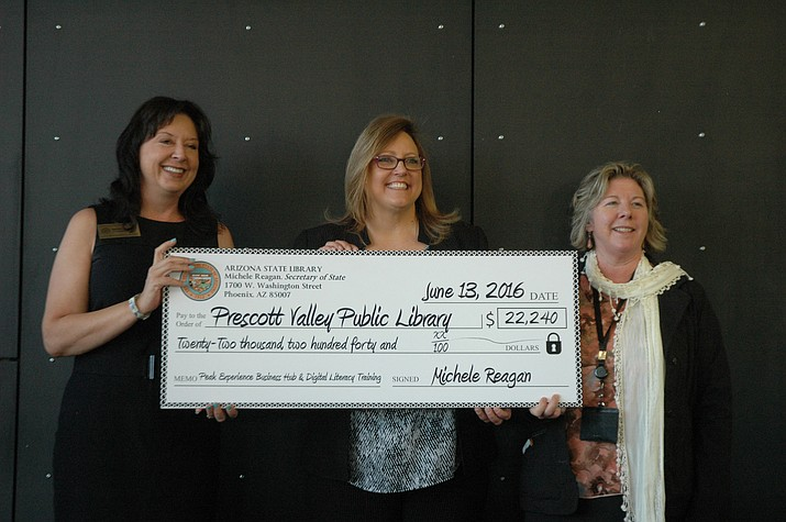 The Prescott Valley Public Library recieved $22,240 in grants for its Peak Experience Business Hub and Digital Literacy Training programs.