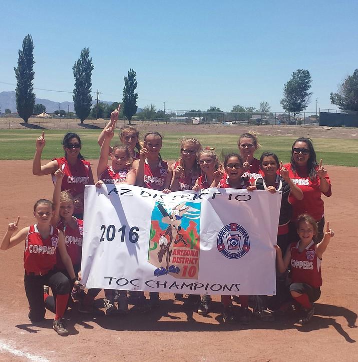 The Bagdad majors division softball team.