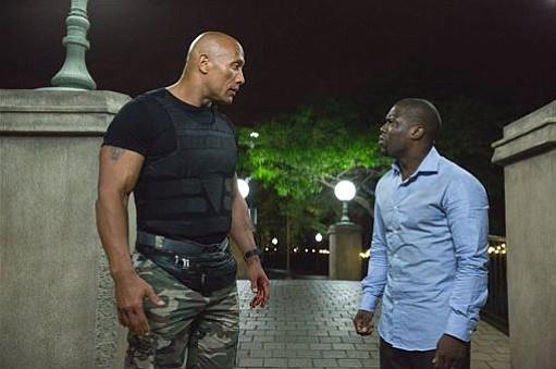"Dwayne Johnson, left, and Kevin Hart star in ""Central Intelligence."""