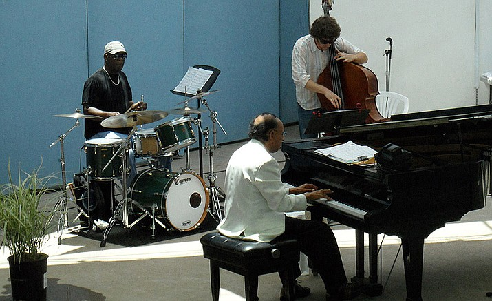 The Harold Land Trio, with Dowell Davis on drums, Harold Land on piano and Sean Brogan on bass