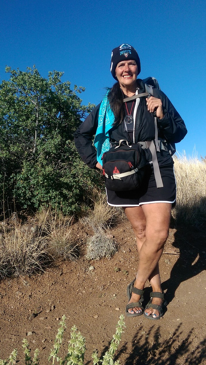 Long-distance hiker Gail Lowe of Prescott hiked the entire recently-completed Prescott Circle Trail over the course of three days in May. The 66-year-old Lowe, originally from Michigan, has been a long-distance hiker since the early 1990s.