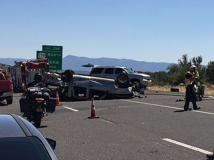 Seven vehicles were involved in a fatality crash on I-17 south at milepost 299 Sunday, according to the Department of Public Safety.