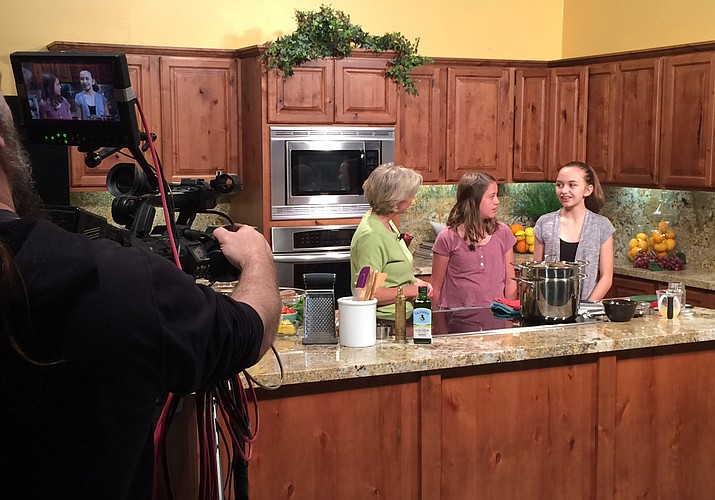"""A cameraman films an episode of YRMC's """"Your Healthy Kitchen."""""""