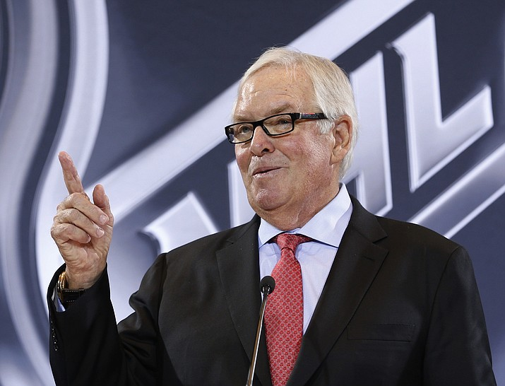 Billionaire Bill Foley speaks during a news conference Wednesday, June 22, in Las Vegas about his new team, which is expected to take to the ice beginning in 2017.