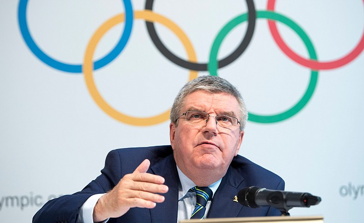 International Olympic Committee, IOC, President Thomas Bach, from Germany, speaks during a press conference after the Olympic Summit IOC in Lausanne, Switzerland, Tuesday, June 21. Olympic leaders met to consider further measures to crack down on doping ahead of the Rio de Janeiro Olympics in the wake of the ban on Russian track and field athletes.